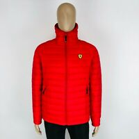 Scuderia Ferrari FORMULA 1 Men's Red Hooded Padded Jacket Size S M L XL XXL