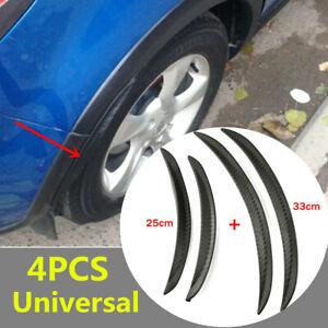4PCS Car SUV Carbon Fiber Style Body Fender Flares Wheel Lips Mudguard 25CM 33CM