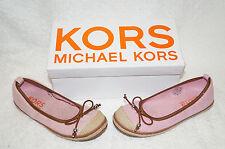 Michael Kors Shoe Cammie US 1 EU 32.5  Slip On Ballerina Kids Teen Pink Silver