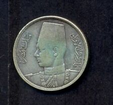 EGYPT SILVER COIN , 10 PIASTRES 1939-1358 YEARS 14 Gm