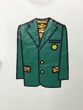 Tiger Woods Masters Green Jacket T-Shirt / New Era / Tiger Print / XL / White
