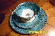 Alka Bavaria Tea Cup, Plate & Saucer.  #875 Green, Gold & Antique White!!
