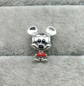 Authentic PANDORA S925 Ale Disney Baby Mickey Mouse Red Trousers Charm 798905C01