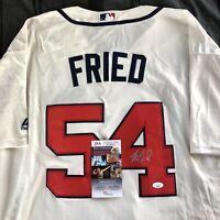 Max Fried Signed Jersey Atlanta Braves Home Cream Autographed Auto XL + JSA COA