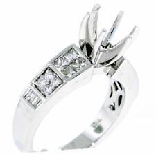 Diamond Engagement Ring Setting 0.73ct 18k White Gold