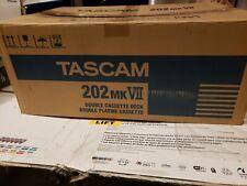 Tascam 202MKVII Rackmount USB Dual Cassette Deck Brand New 202MK7 With ERROR