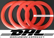 14''Red Wall Portawall Tyre Port a insert Trim Set 4x Free Shipping..