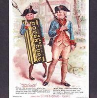 Hires Cough Cure 1891 Antique Victorian Fantasy Medicine Advertising Trade Card