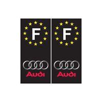 Audi F fond noir voiture autocollant plaque droits