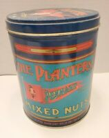 """Vintage Collectible Tin Planters Peanuts Mixed Nuts Pennant Brand """"Mr. Peanut"""""""
