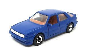 Matchbox Saab 9000 Turbo blue China Baseplate Superfast MBX