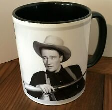 "Coffee Mug 11oz John Wayne ""...Saddling up Anyway"", Western White Black Inside"