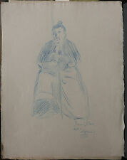 Dessin Original LUBIN DE BEAUVAIS XIXe - Club - Art Nouveau LB12