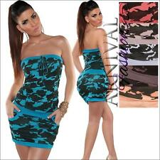 NEW SEXY CASUAL MINI DRESS XS S M L shop online SHORT CAMO PRINT DRESSES SUMMER