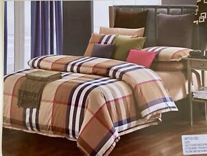bedding set queen brown print made In Italy