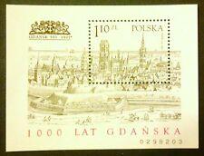 POLAND STAMPS MNH Fibl116B (159B) Sc3343 Mibl129A block-1000 ann. of Gdansk,1997
