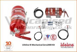 Lifeline Zero 2000 FIA Fire Extinguisher Kit Mechanical 4.0L Kit Race Rally Car
