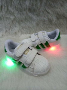 Sneaker Shoes With Light For Kids (Green)