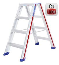 Aluminium Swingback Step Ladders Class 1 Industrial Double sided Step Ladder