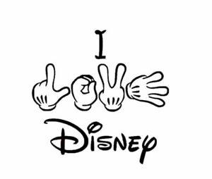 Vinyl Decal - I Love Disney