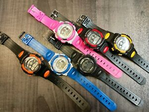 Children Waterproof Sports Watches Kid Digital LED Wrist Watch for Girls Boys