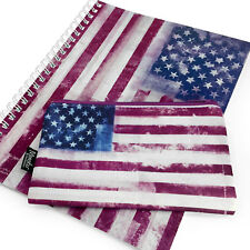 Monster Stationery - A4 Notebook & Pencil Case Set- Flag Range - Stars & Stripes