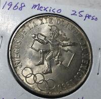 1968 Mexico 25 Peso Silver Coin
