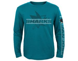 Reebok NHL Toddlers San Jose Sharks Line Up Long SLeeve Shirt