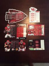 7 count lot of  Kansas City Chiefs NFL Football Magnetic Schedules 1993 - 2010
