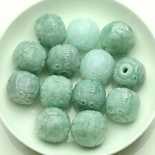 10pcs 100% Natural Grade A Green Jadiete Jade Carved New Arrive Loose Beads