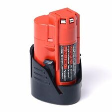 New 12V 1.5Ah Li-ion Replacement Battery for Milwaukee M12 48-11-2420 48-11-2401