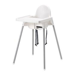 Baby Kids Toddler High Chair Tray Table Feed Feeding Highchair White IKEA