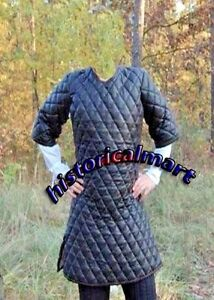 Medieval Celtic Viking Padded Armour Real cotton Gambeson Jacket Short sleeves