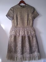New Women Ex M/&S Soft Floral Sleeveless Waisted Midi Dress Size 12-18 RRP £35