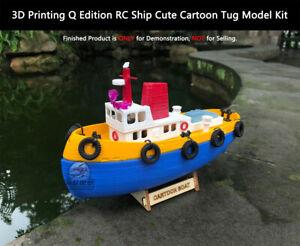 3D Printing Q Edition 1/100 RC Ship Cute Cartoon Tug Model Kit
