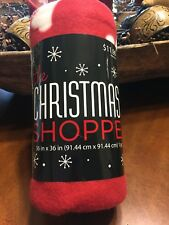 Red Christmas Dog Puppy Blanket Paw Prints Dog Bone Ball Pet Christmas