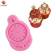 Kitchen Silicone Clock Mold Fondant Cake Mould Clock Watch Baking Mold Craft New