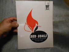 Vintage 1970 Holiday Inn Red Coals Restaurant Menu Poplar Bluff Missouri