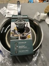 "New Black Farberware 12"" Deep Skillet Fry Pan Lifetime Guarantee"