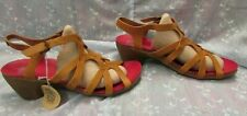 Women's LOINTS OF HOLLAND Brown Leather Sandals Strappy Size 40 EUR