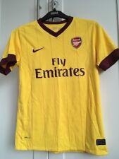 Arsenal Gialla Away Camicia 2010-2011 Ragazzi Taglia Large GIBBS