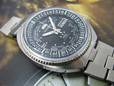 RARE Vintage ORIENT WD WORLD DIVER STAINLESS STEEL WATCH GENTS DAY DATE DRESS 3