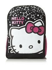 NEW ARRIVAL! SANRIO HELLO KITTY HK STAR BLACK PINK PRINTED BACKPACK BAG SALE