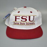 FSU Florida State Seminoles NCAA Vintage 90s The Game Split Bar Snapback Cap Hat