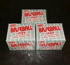 1989 Fleer Baseball Factory Sealed Update Traded Set - 3 Set Lot