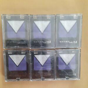 maybelline new York eyestudio eyeshadow duo 435 purple/silver 6 pack