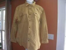 Carhartt 913 Original Fit Mens XL100% Cotton Khaki Flannel Shirt