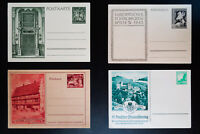 Germany Mint Collection of 1936 to 1942 Pre-Printed Postal Cards