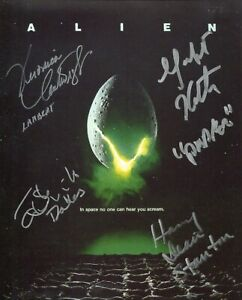 ALIEN 8x10 movie poster photo signed by FOUR CAST members! - UACC DEALER