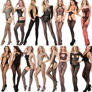 Sexy Women Lace Bodysuit Body Stocking Lingerie Babydoll Nightwear Sleepwear